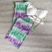 White Tie & Dye Smock Tube Set