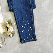 Pearl Studded Jeans