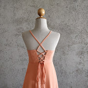 Cross Back Ruffled Strappy Dress