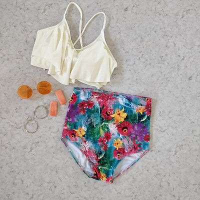 Burst of Colors Swimsuit - Addery.co.in