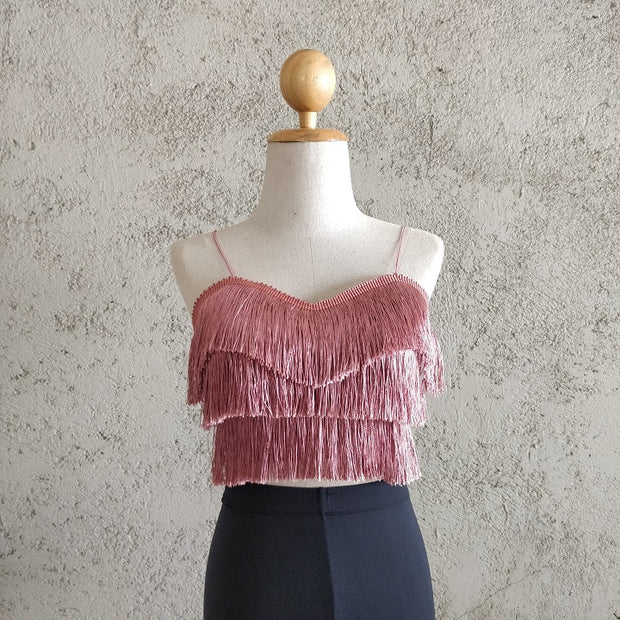 Tier Fringes Spaghetti  Top
