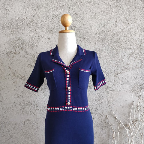 Knit Collared Dress
