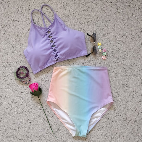 Criss Cross Unicorn Swimsuit