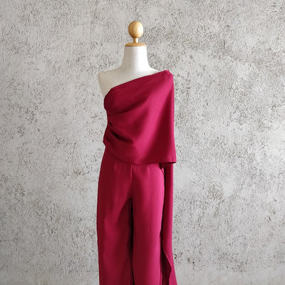 One Shoulder Cape Co-ord