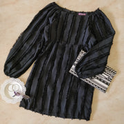 Off Shoulder Fringes Dress