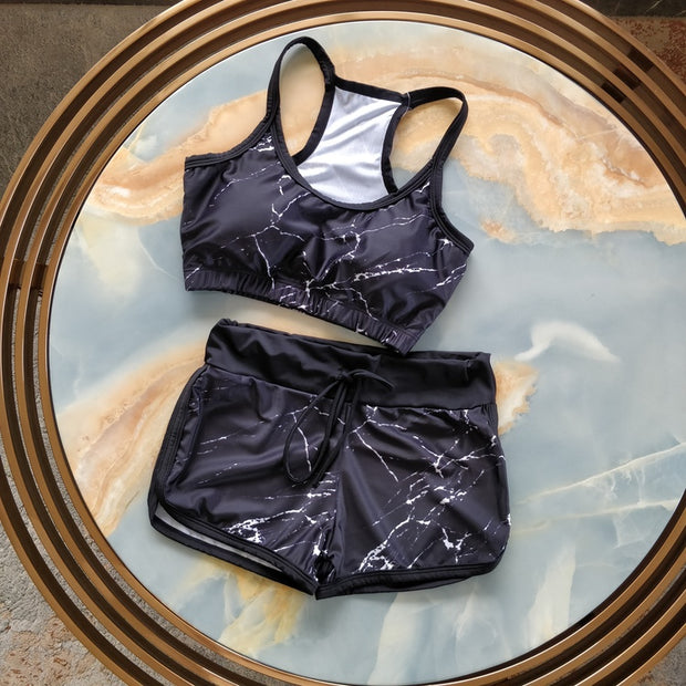 Black Marble Swimsuit
