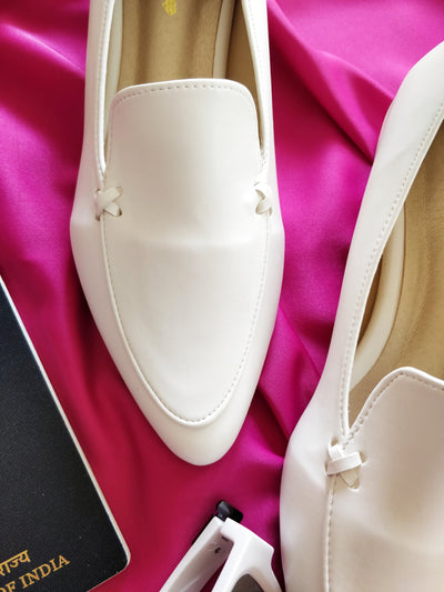 Formal White Shoes - Addery.co.in
