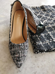 Monochrome Stilettos : Black - Addery.co.in