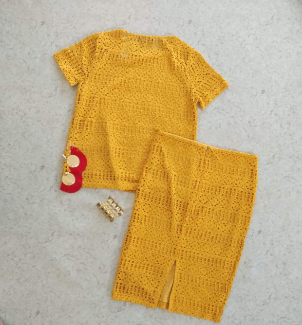 Yellow Lace CO-ORD