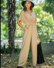 Open Sleeves Jumpsuit - Addery.co.in