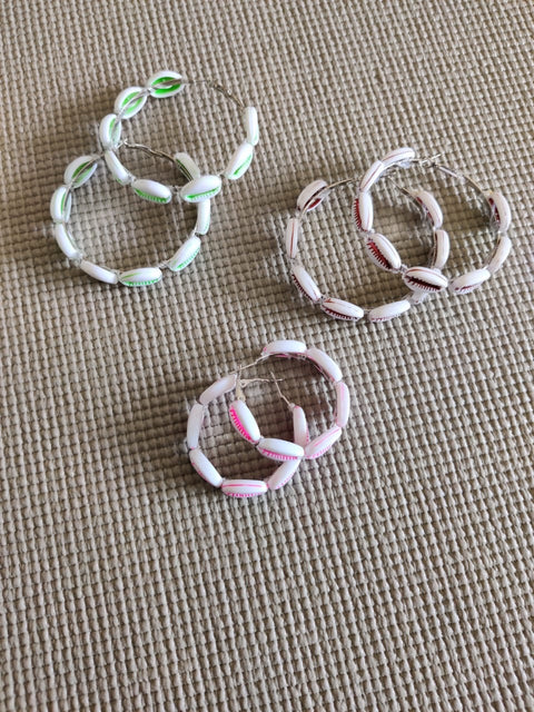 By The Sea Pastel Hoops - Addery.co.in