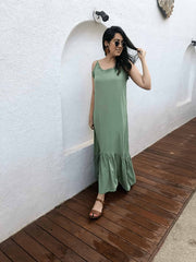 Fruity Frill Maxi Dress - Addery.co.in