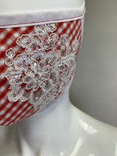 Load image into Gallery viewer, RED & WHITE LACE DETAILS