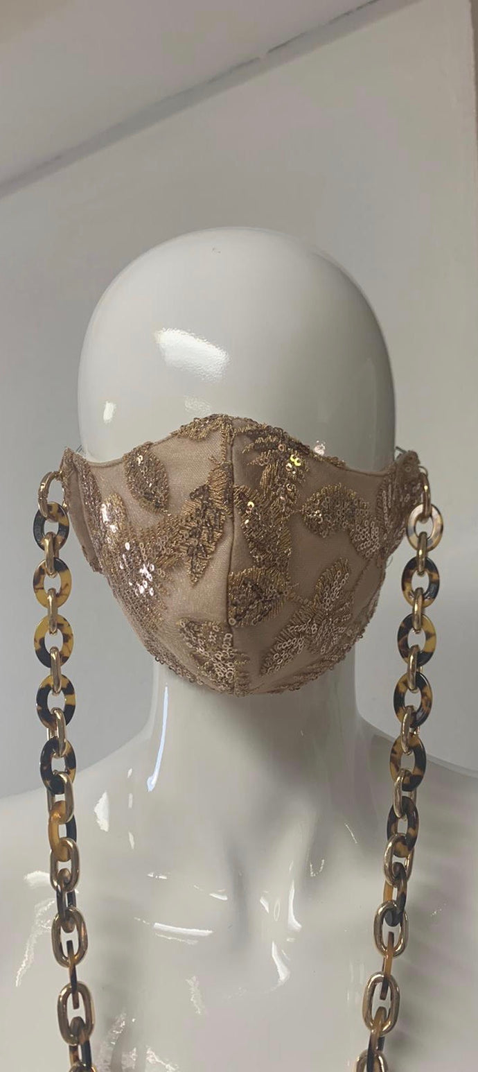 GOLD LACE WITH CHAIN