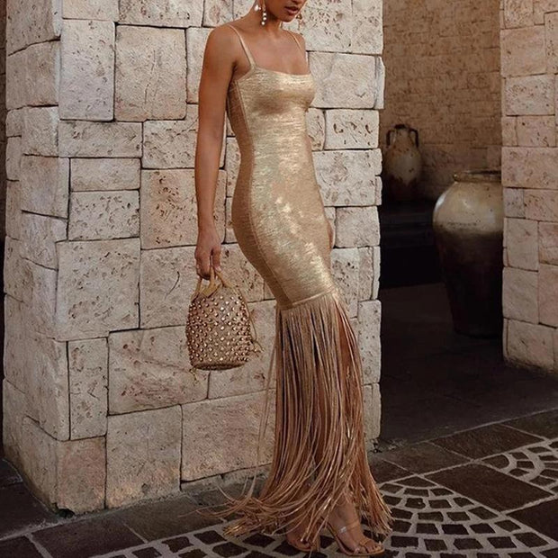 Sexy Sling Tube Top Slim Evening Dress
