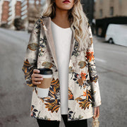 Simple Ethnic Style Fashion Plus Velvet Casual Jacket