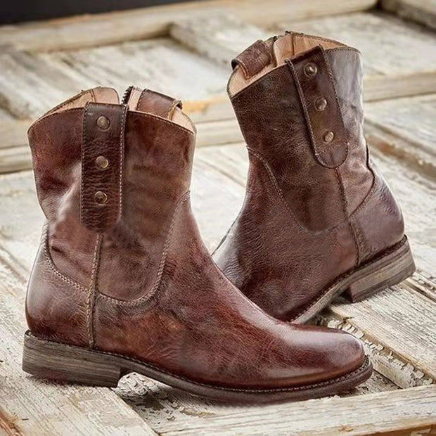 Vintage Women's Side Zipper Rider Boots