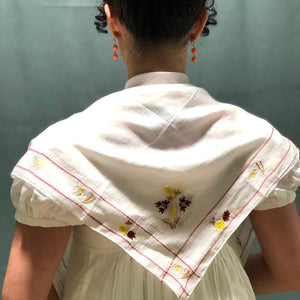 Embroidered & Bordered Handkerchief