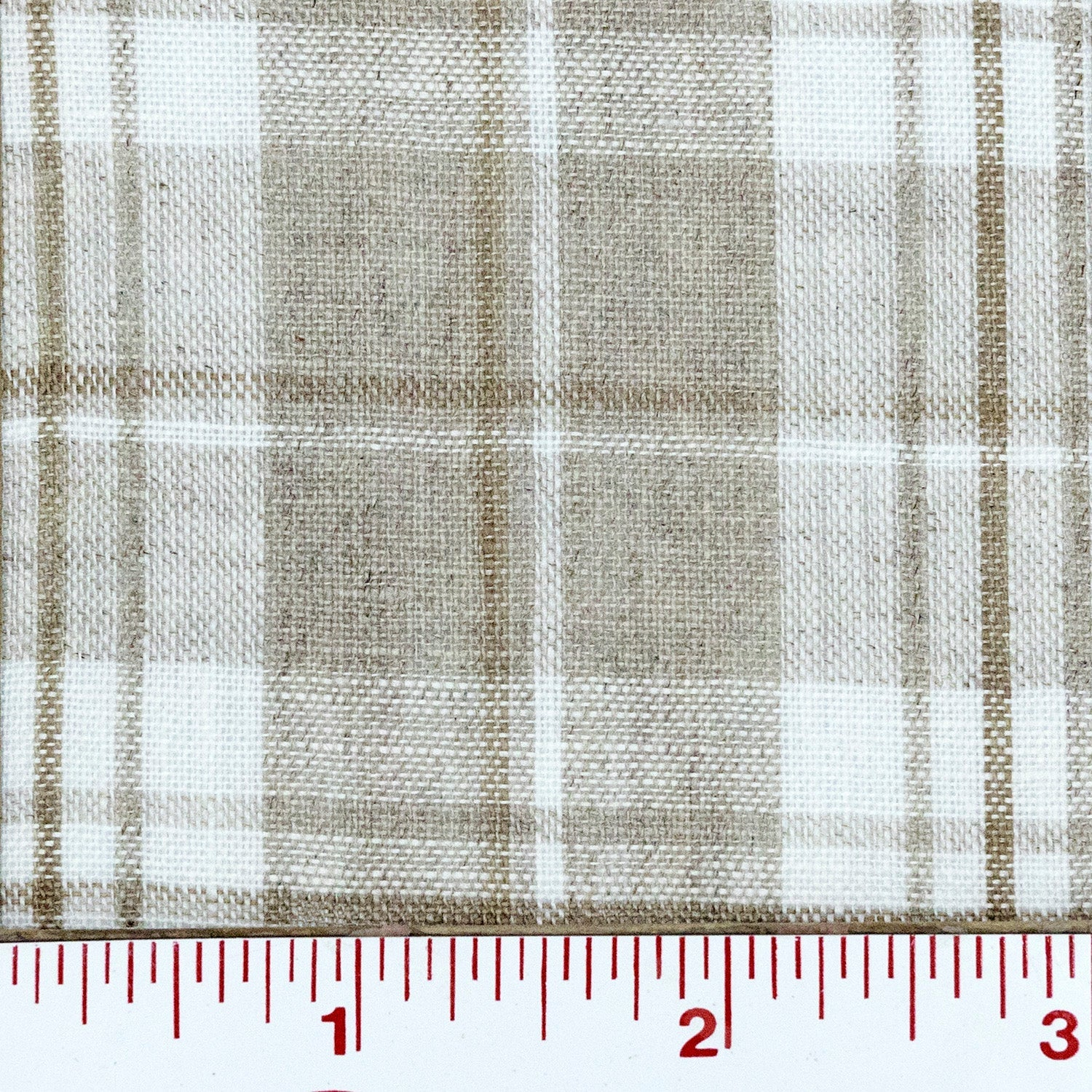 Natural Light Weight Checked Linen - $14.00 yd.