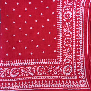 Red Spotted Handkerchief with Border