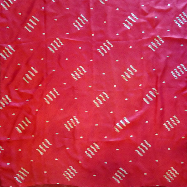 "Dark Red ""Spot'd"" Silk Handkerchief"