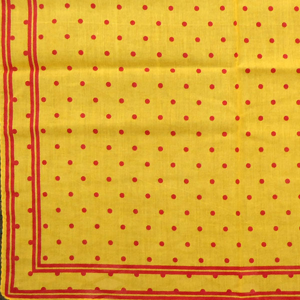 "Yellow & Red ""Spot'd & Bordered"" Handkerchief"