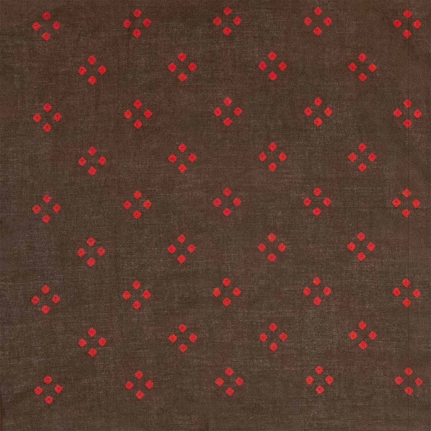 "Brown & Red ""Spot'd"" Handkerchief"