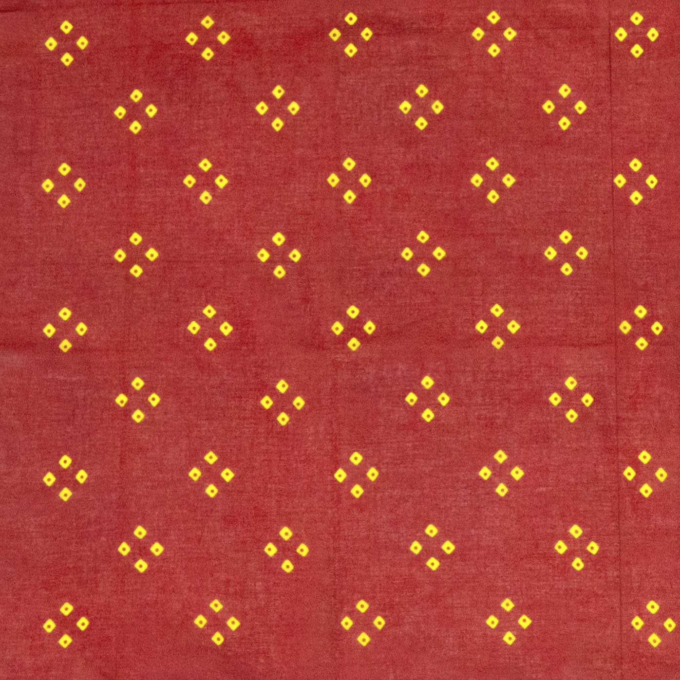 "Red & Yellow ""Spot'd"" Handkerchief"