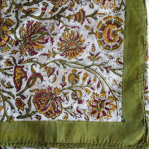Red, Gold & Olive Handkerchief