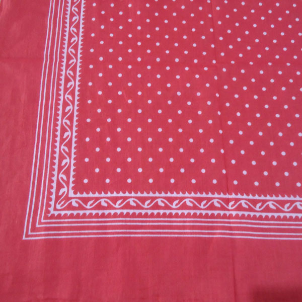 Red Spotted Handkerchief with Simple Border