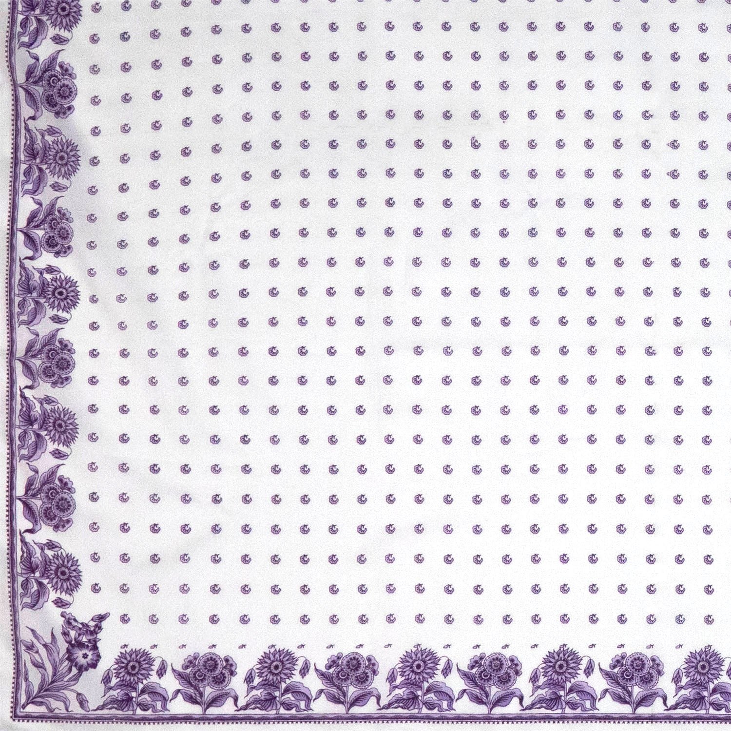 Three Purples Flowered Handkerchief or Shawl
