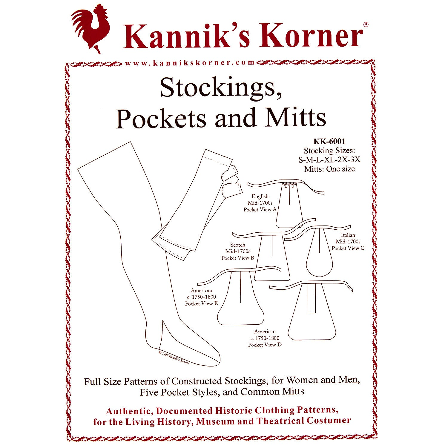 Kanniks Korner Stockings, Pockets, and Mitts Pattern