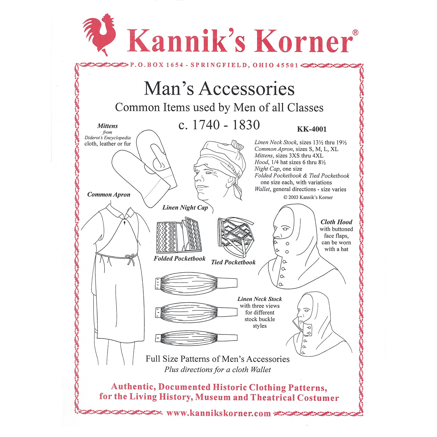Kannik's Korner Men's Accessories Pattern