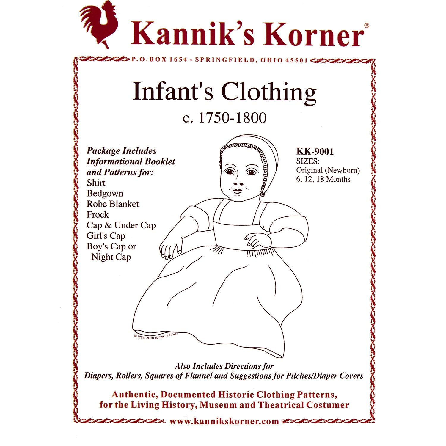 Kannik's Korner 18th Century Infant Wear Pattern