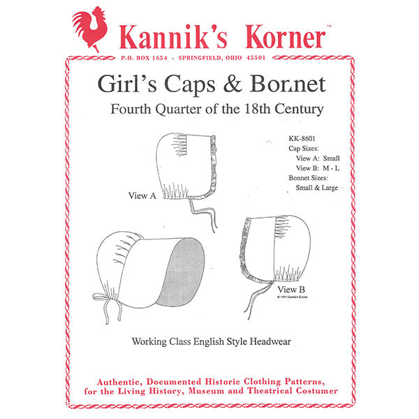 Kannik's Korner Girls Cap & Bonnet Pattern