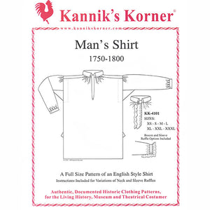 Kannik's Korner 18th Century Shirt Pattern