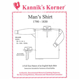 Kannik's Korner Early 19th Century Shirt Pattern