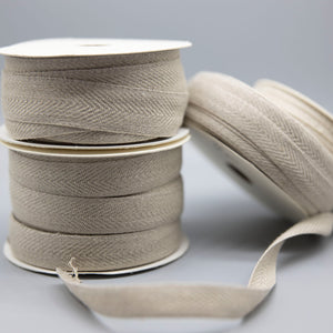 Linen Twill Woven Tape - Natural - $1.30 - $2.40