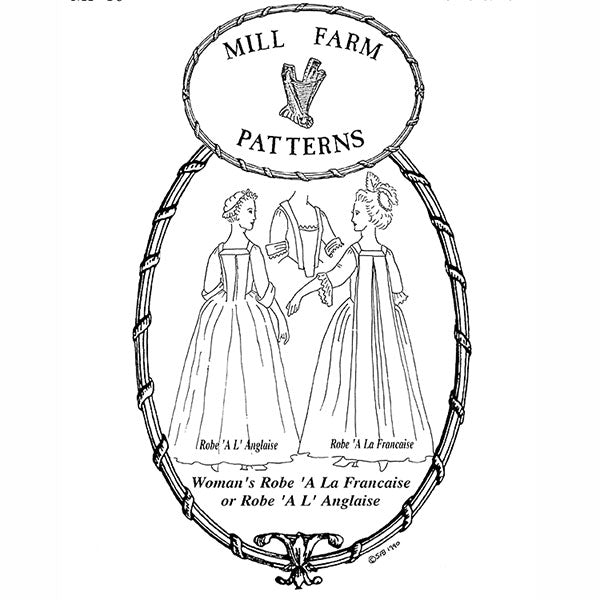 Mill Farm Robe A la Francaise or Robe A L Anglaise Pattern