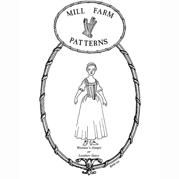 Mill Farm 18th Century Jumps or Leather Stays Pattern