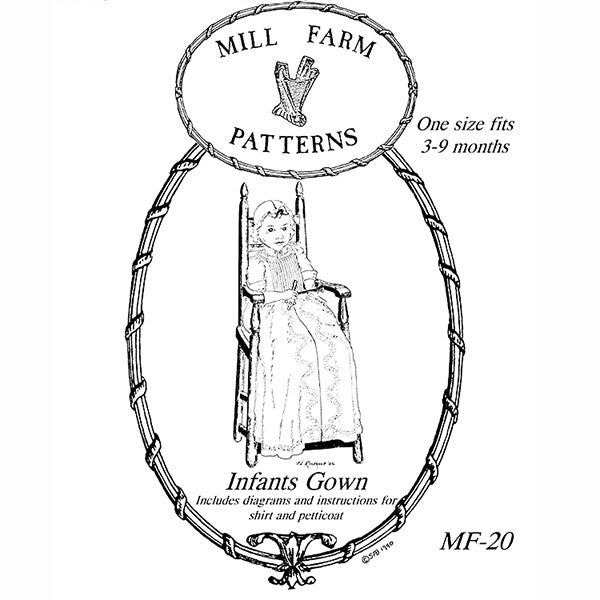 Mill Farm Infant Gown Pattern