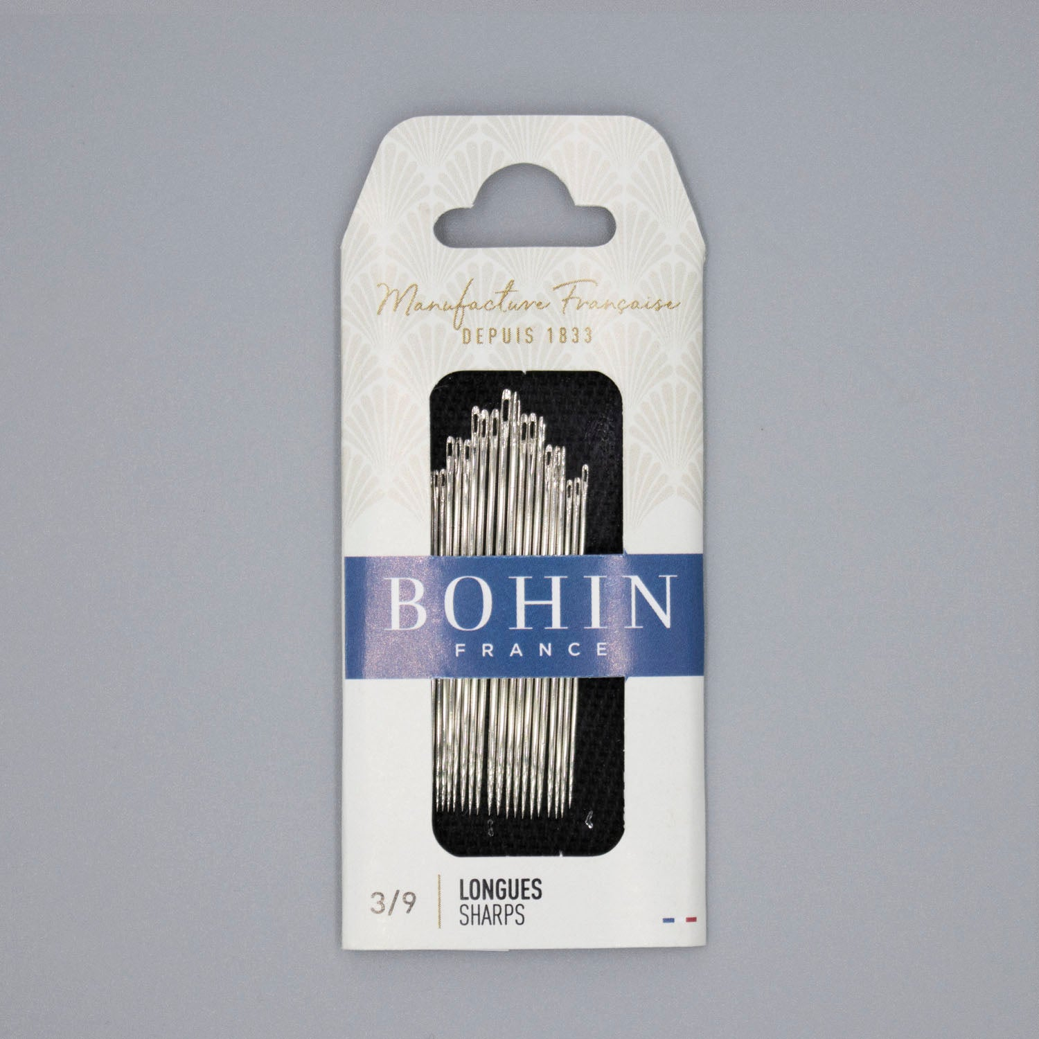 Bohin Sharps Sewing Needles, Sizes 3-9