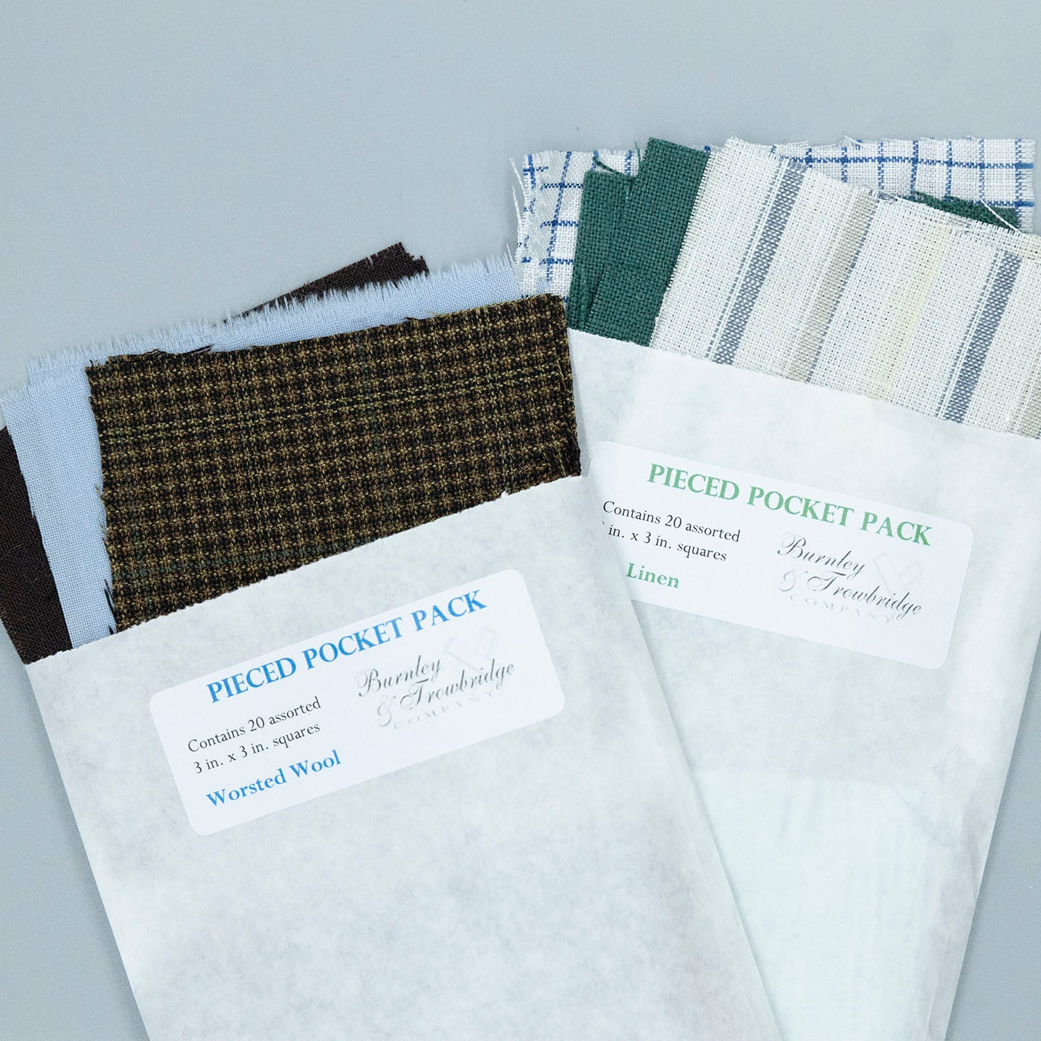 Pieced Pocket Packs - Linen or Worsted Wool