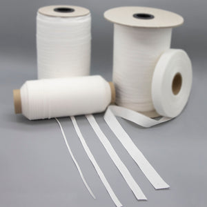 Plain Weave White Cotton Tape - Sold by the yard - $.30 yd.- $.50 yd.