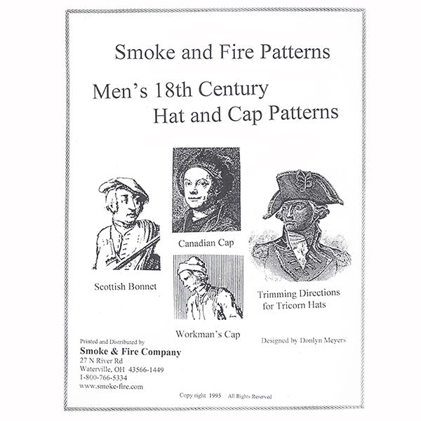 Smoke & Fire 18th Century Hat and Cap Pattern
