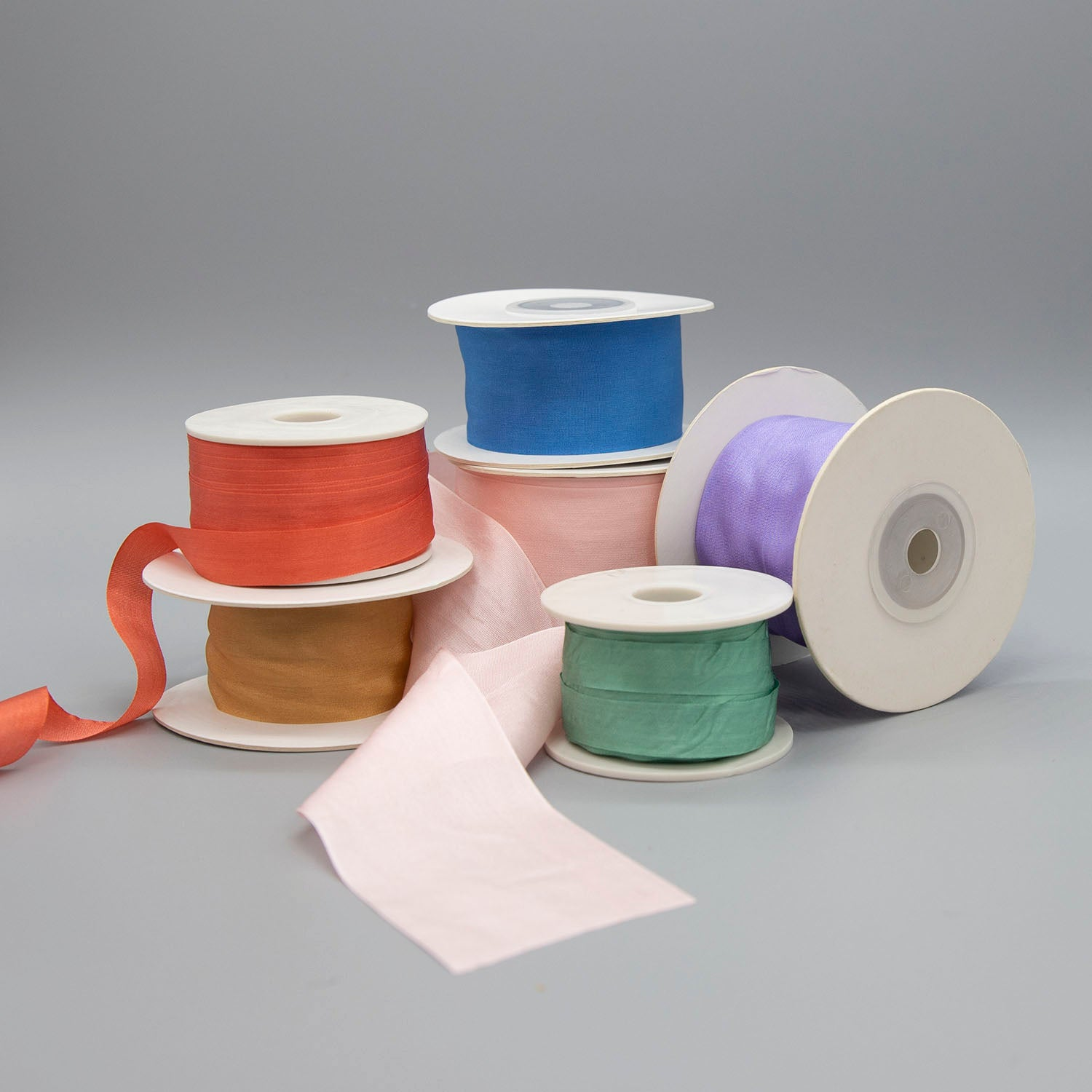 Silk Taffeta Ribbon - Sold by the yard - $2.00 yd. - $4.50 yd.