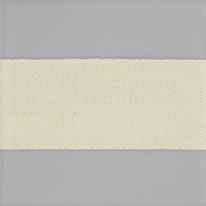 Off-White Worsted Wool Twill Tape - $3.75 yd. - $7.00 yd.