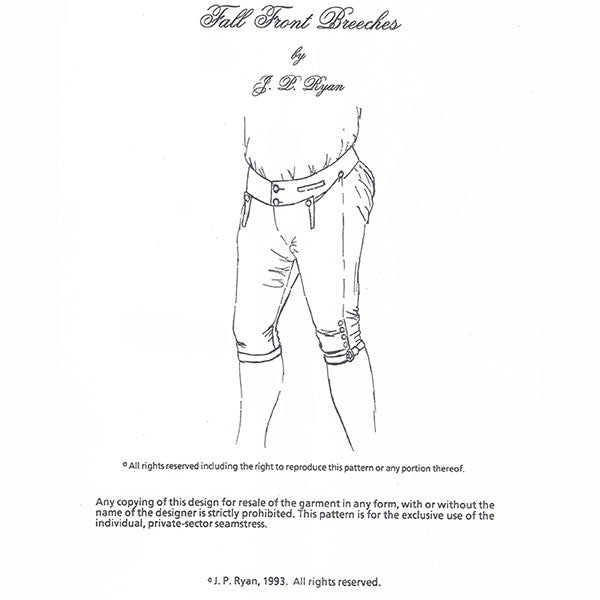 JP Ryan Fall Front Breeches Pattern