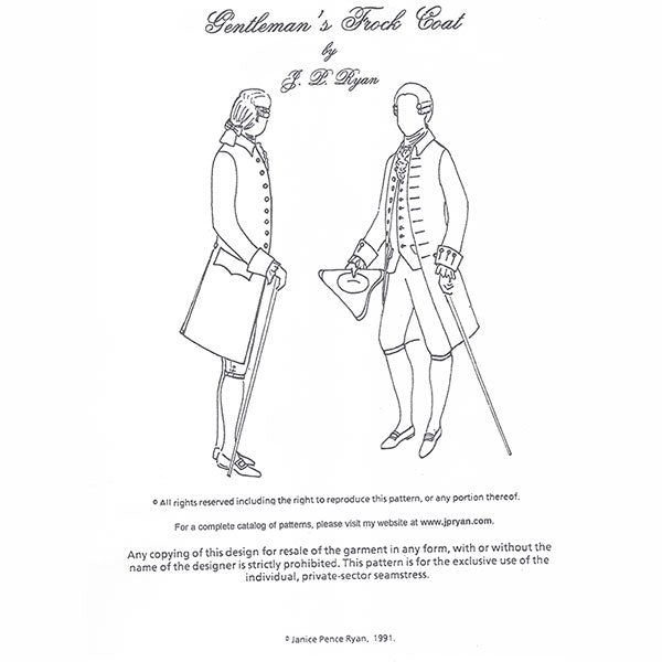 JP Ryan Frock Coat Pattern