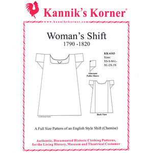 Kanniks Korner 1790-1820 English Shift Pattern